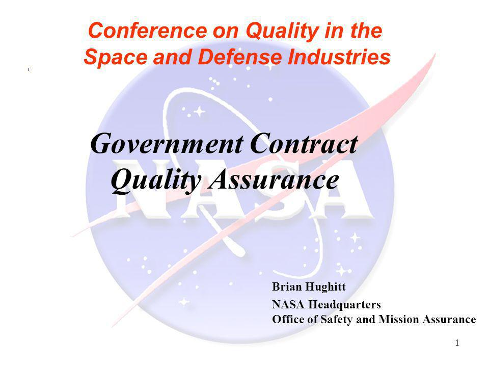 Conference on Quality in the Space and Defense Industries