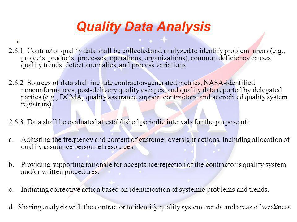 Quality Data Analysis