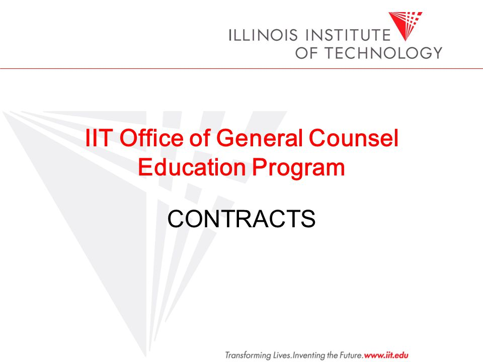 IIT Office of General Counsel Education Program