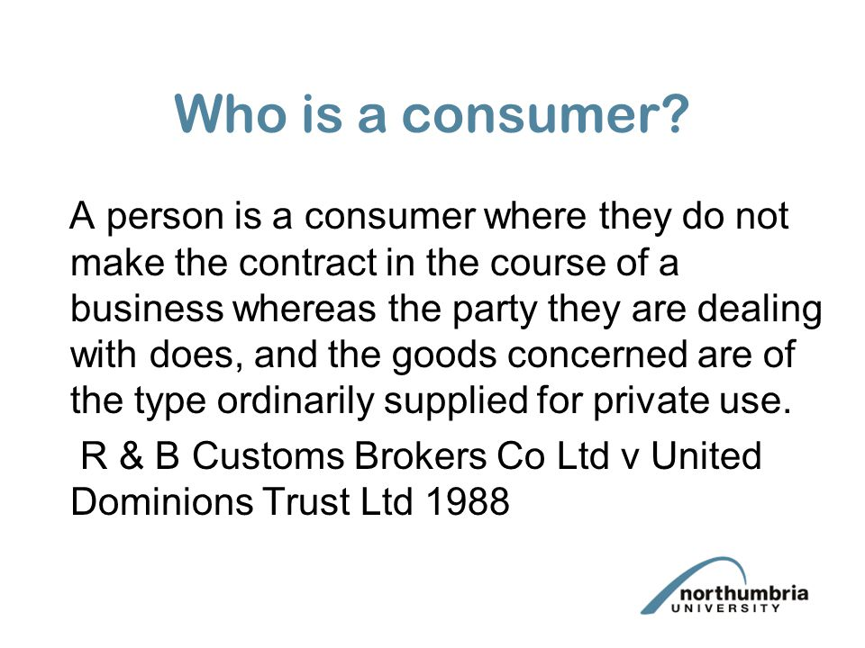 Who is a consumer