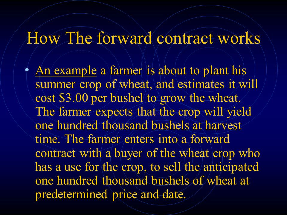 How The forward contract works