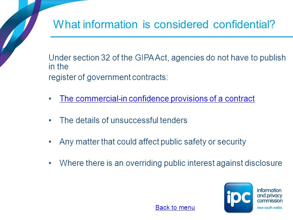 What information is considered confidential