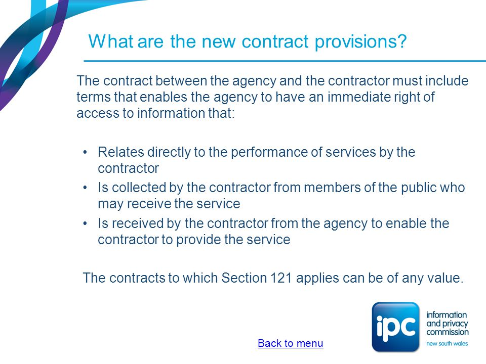 What are the new contract provisions
