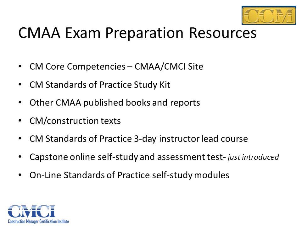 CMAA Exam Preparation Resources