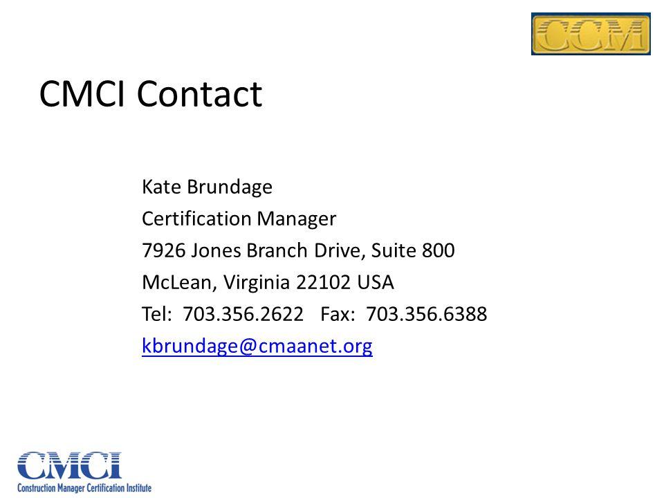 CMCI Contact