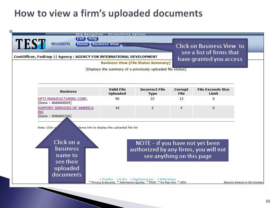 How to view a firm's uploaded documents