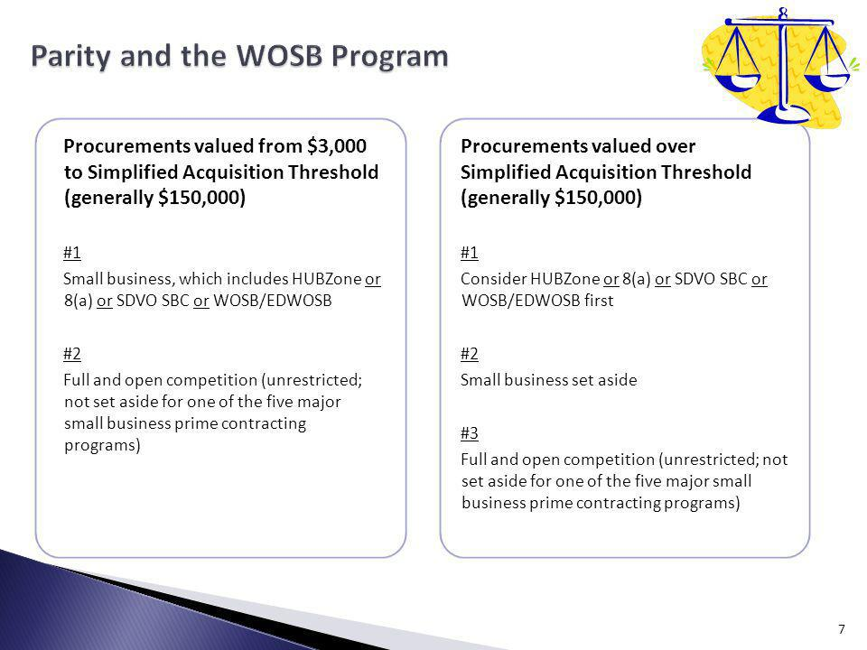 Parity and the WOSB Program
