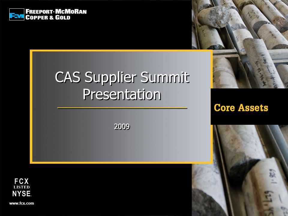 CAS Supplier Summit Presentation