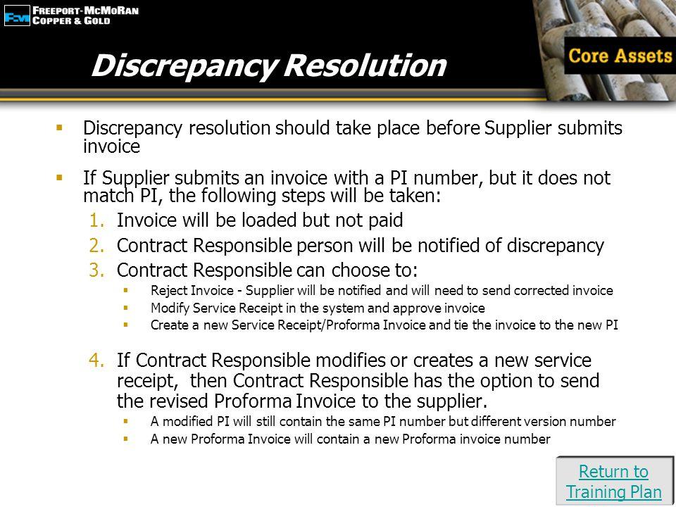 Discrepancy Resolution