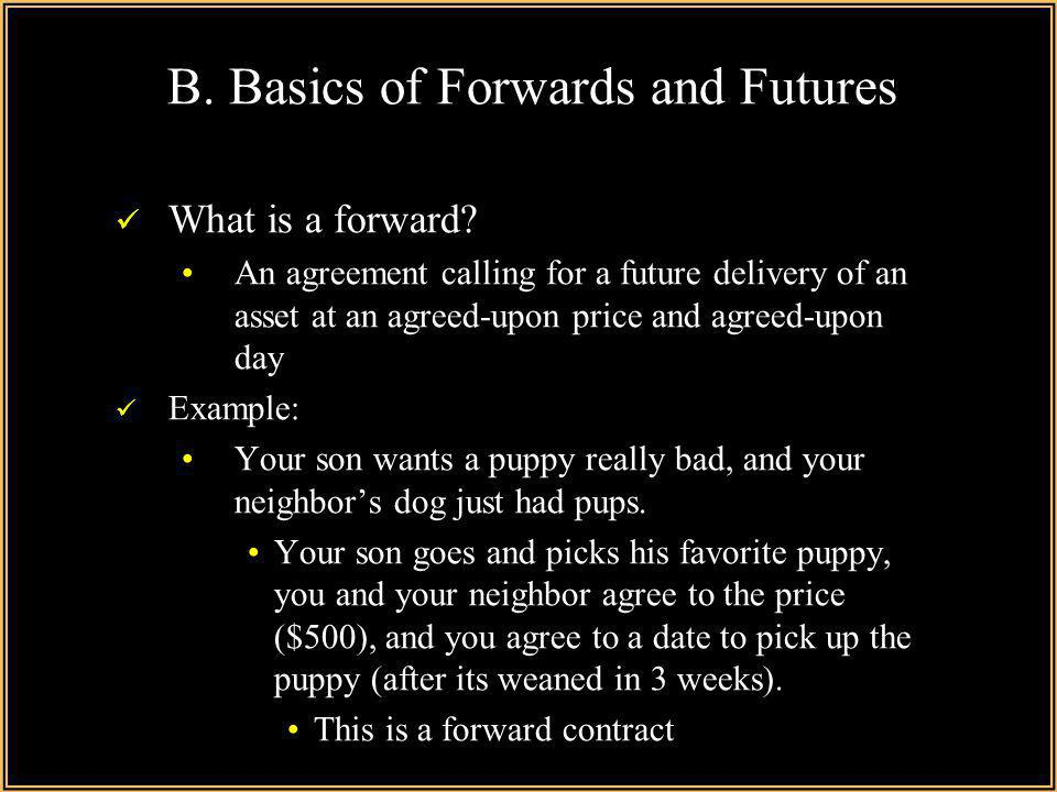 B. Basics of Forwards and Futures