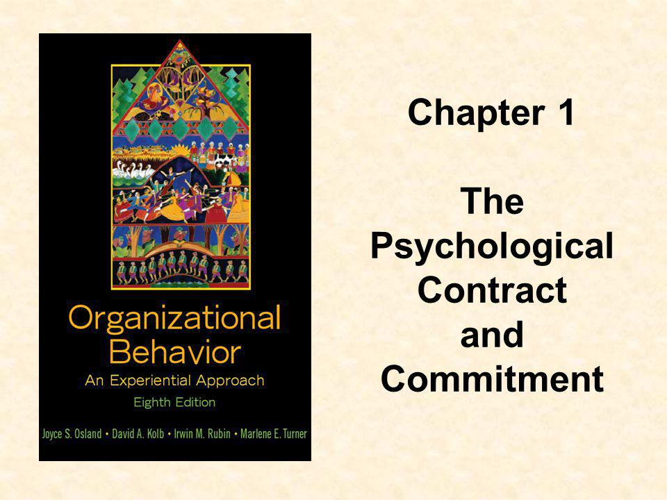 Chapter 1 The Psychological Contract and Commitment