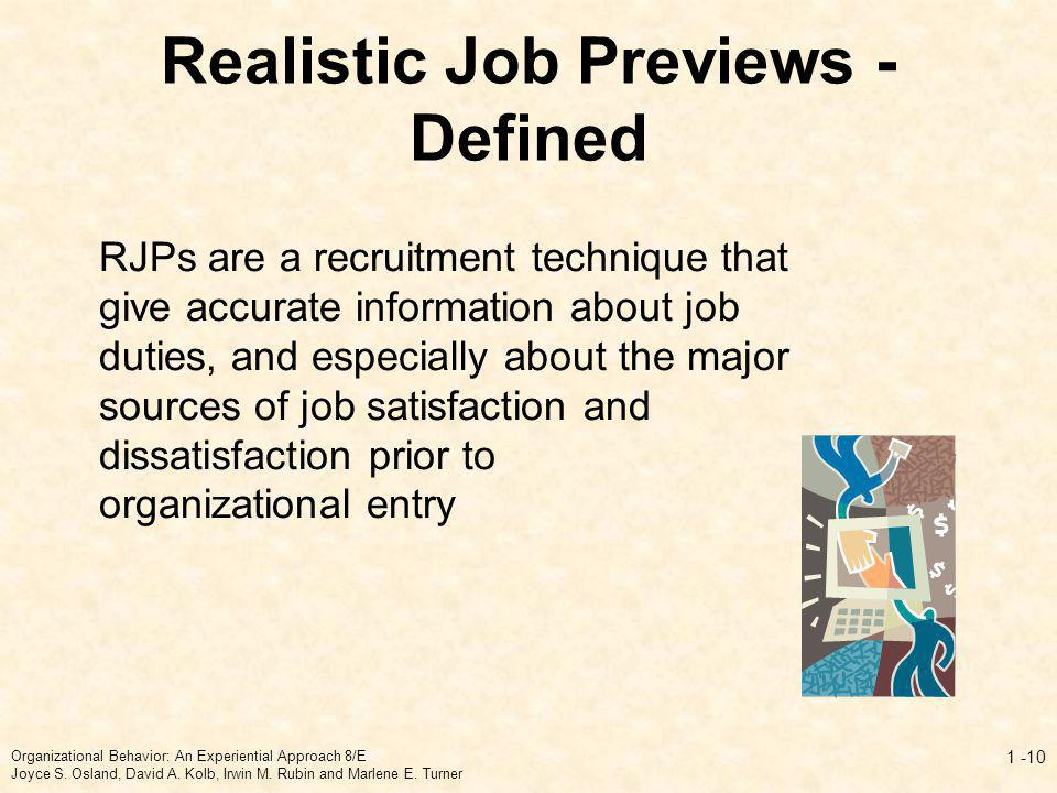 Realistic Job Previews - Defined