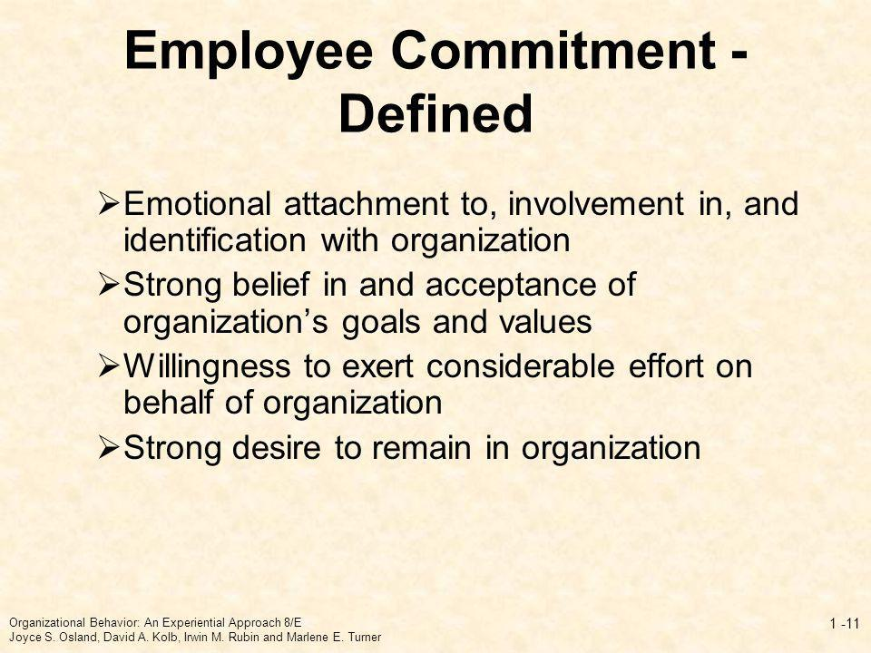 Employee Commitment - Defined