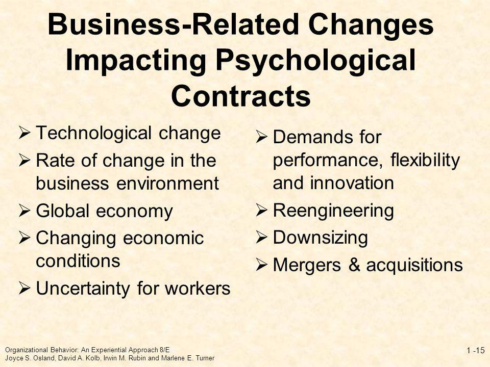 Business-Related Changes Impacting Psychological Contracts