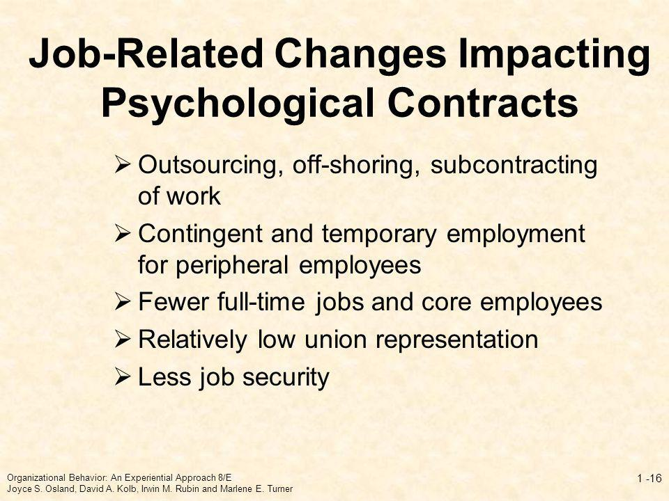 Job-Related Changes Impacting Psychological Contracts