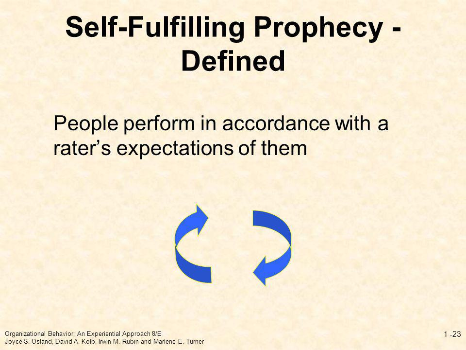 Self-Fulfilling Prophecy - Defined
