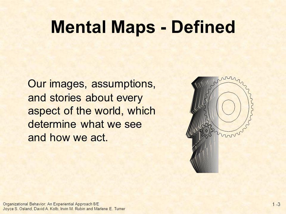 Mental Maps - Defined Our images, assumptions, and stories about every aspect of the world, which determine what we see and how we act.