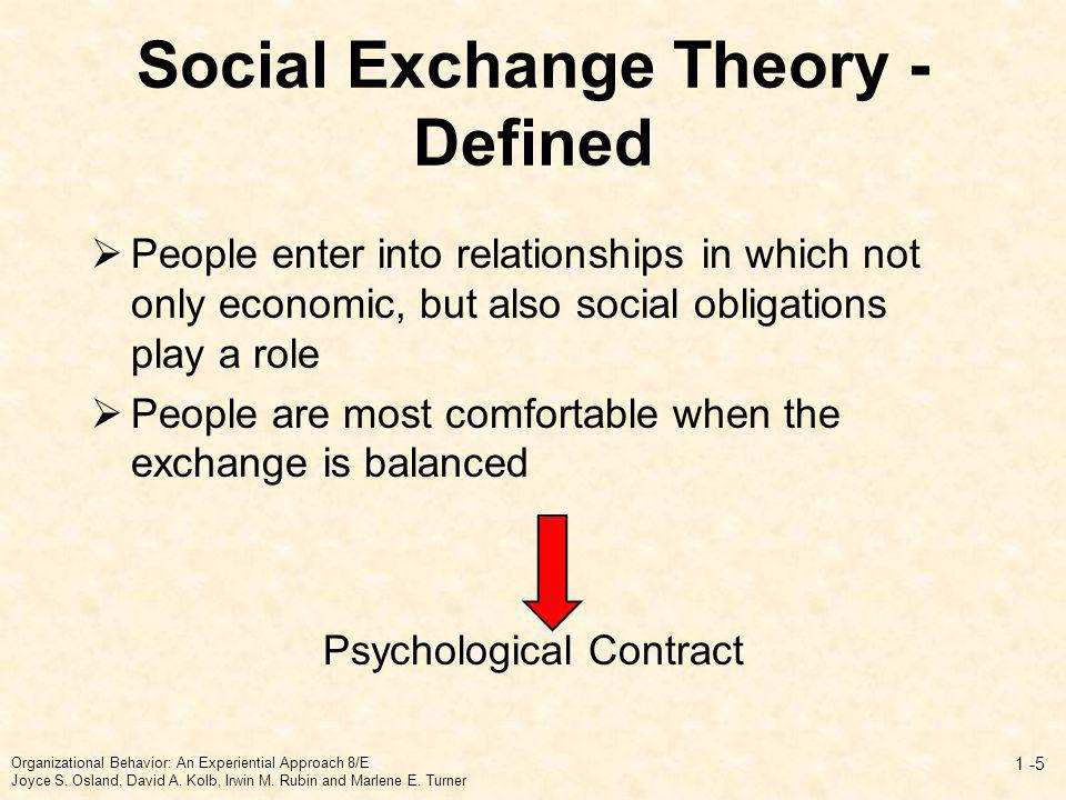 Social Exchange Theory - Defined