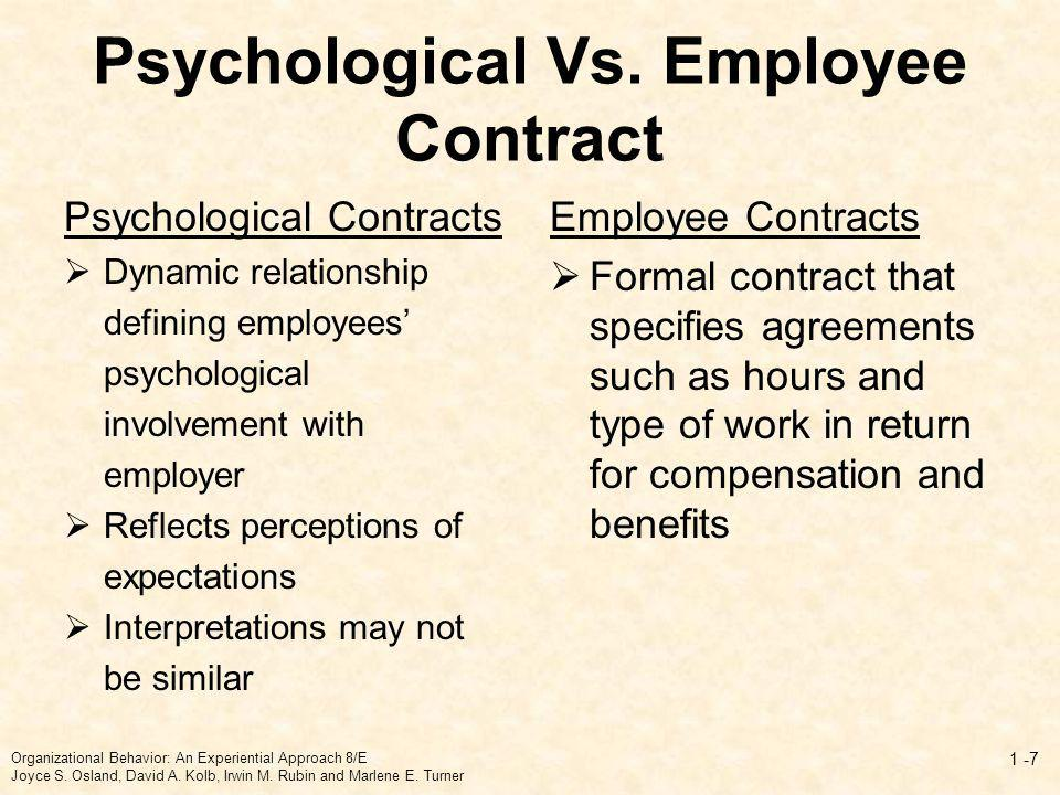 Psychological Vs. Employee Contract