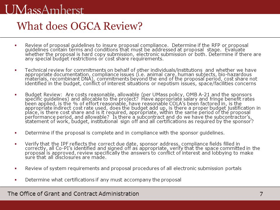 What does OGCA Review