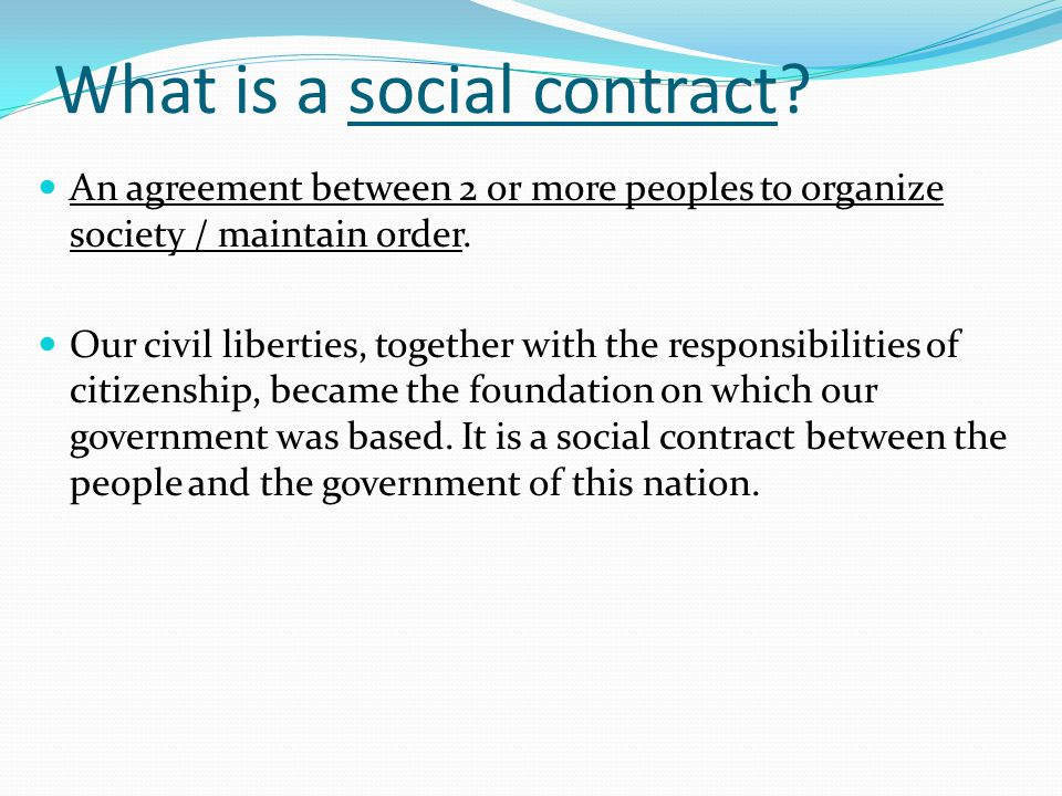 What is a social contract