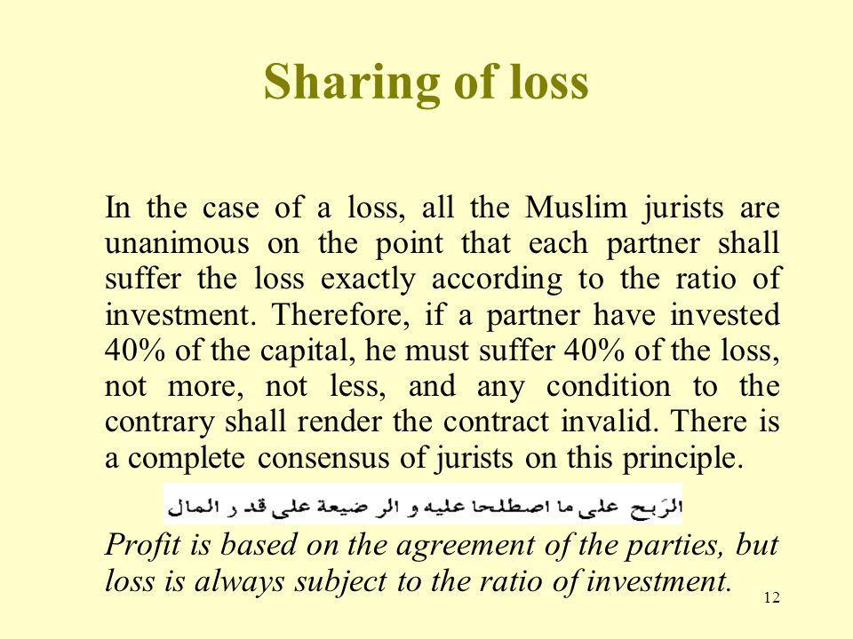 Sharing of loss
