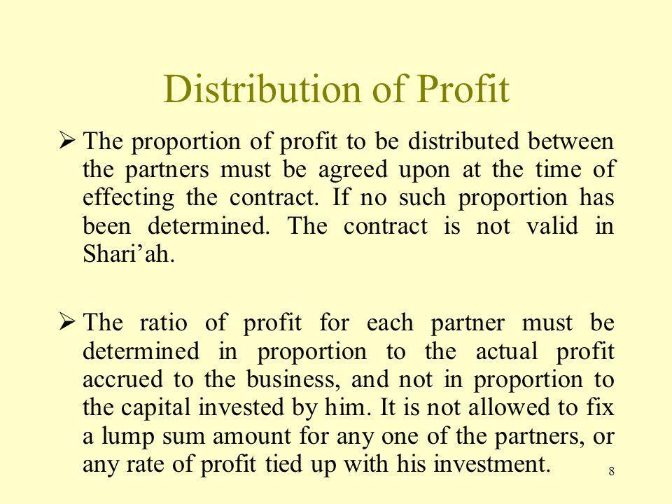 Distribution of Profit