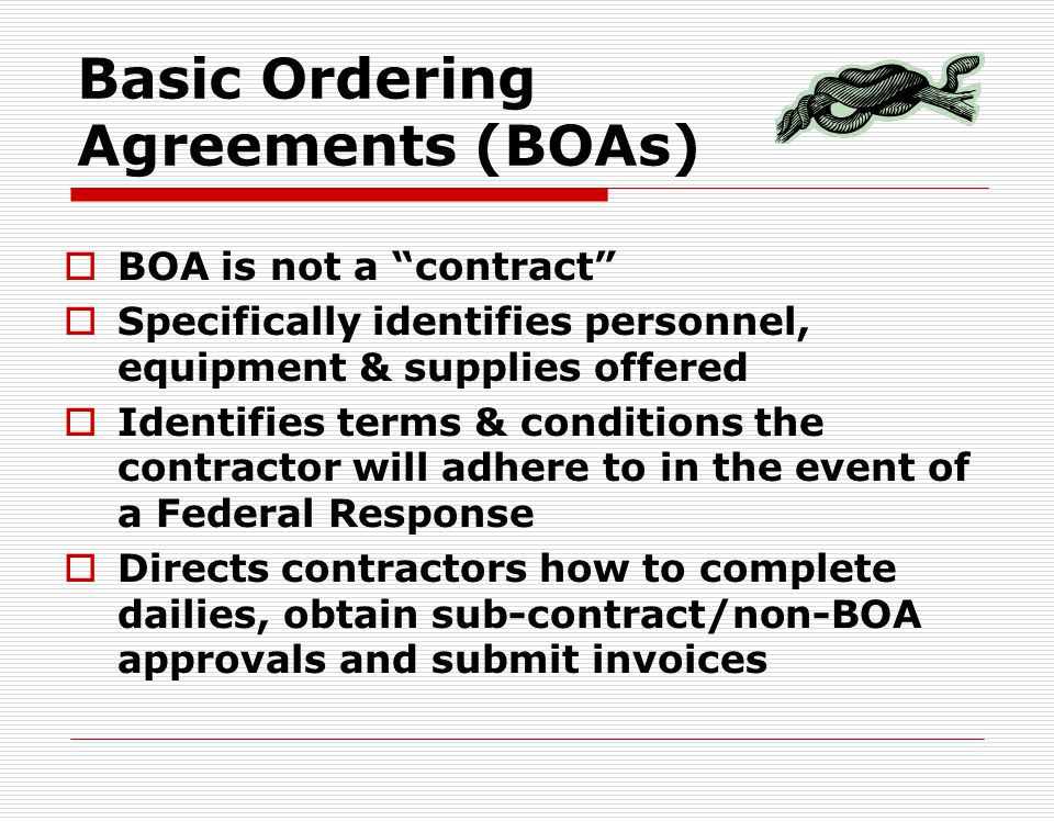Basic Ordering Agreements (BOAs)