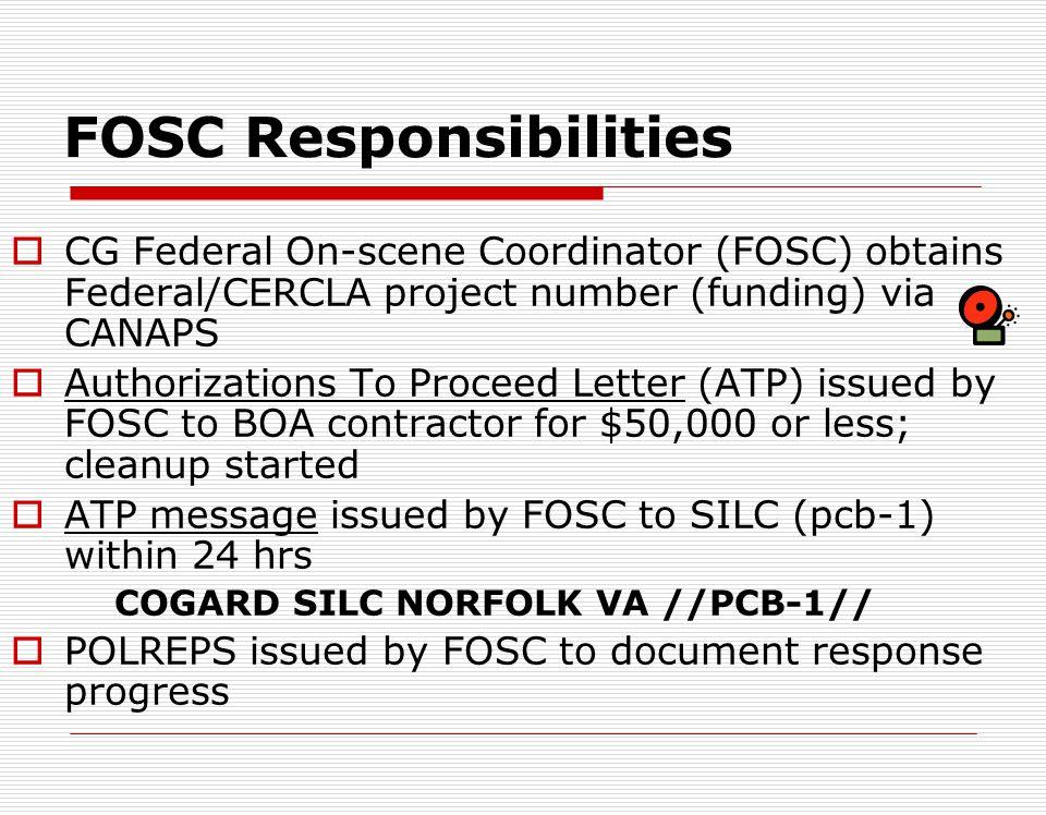 FOSC Responsibilities