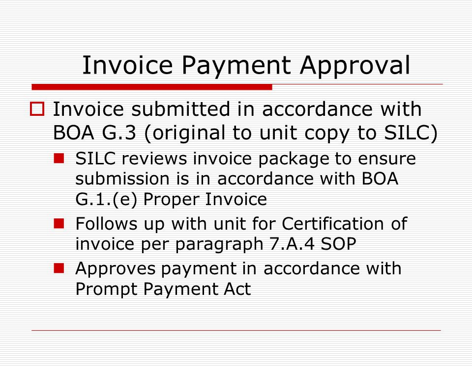 Invoice Payment Approval