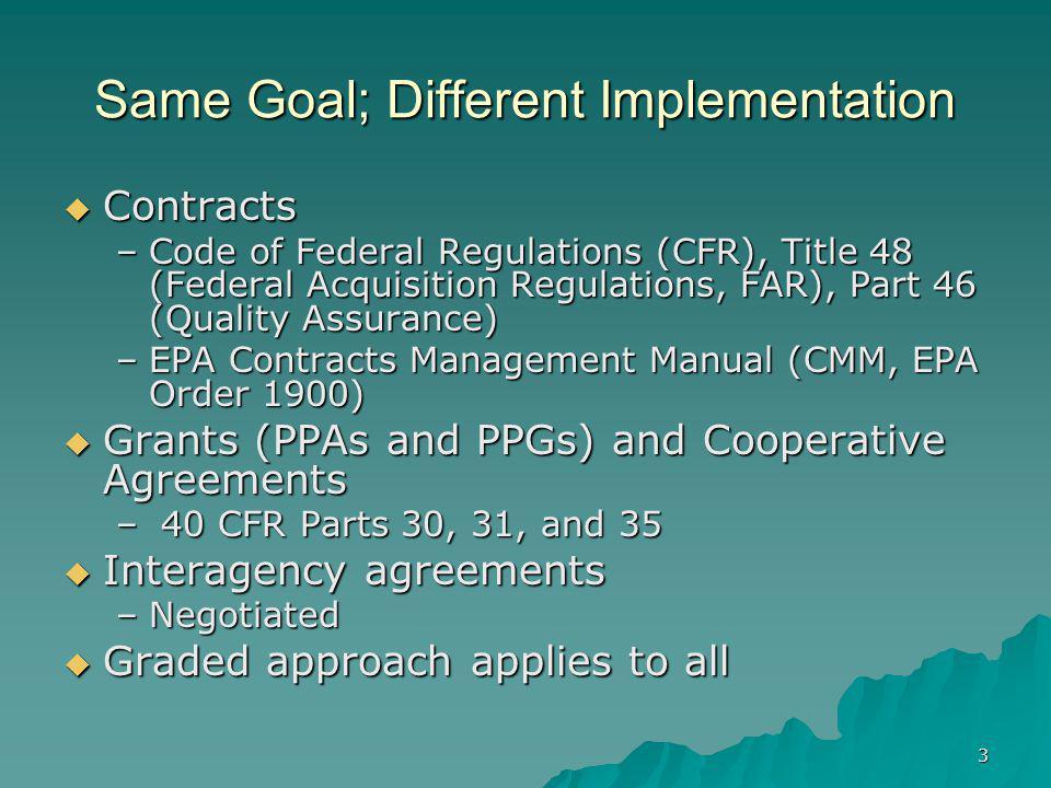 Same Goal; Different Implementation