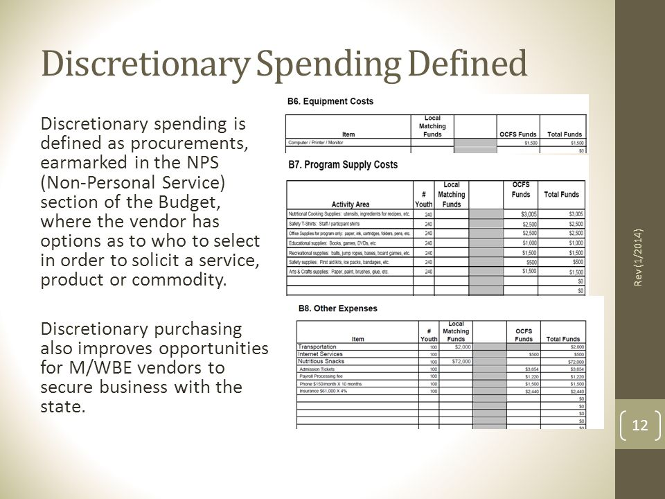 Discretionary Spending Defined