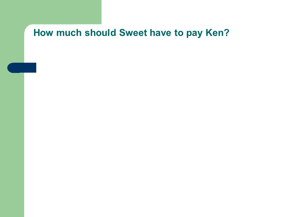 How much should Sweet have to pay Ken