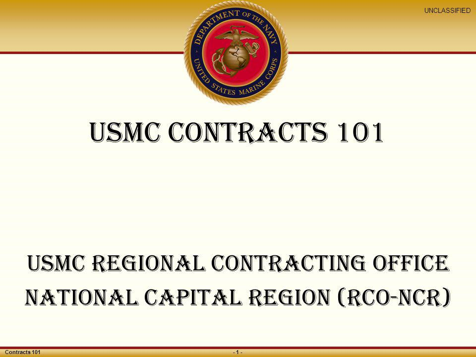 USMC Regional Contracting Office NATIONAL CAPITAL REGION (rco-ncr)
