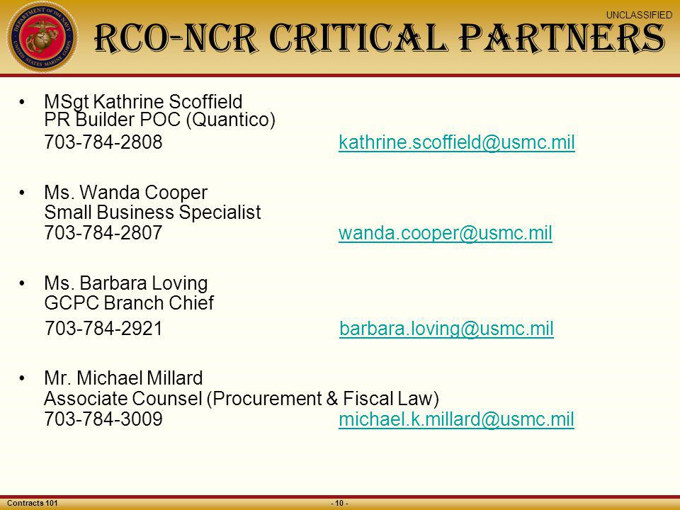 RCO-NCR Critical Partners