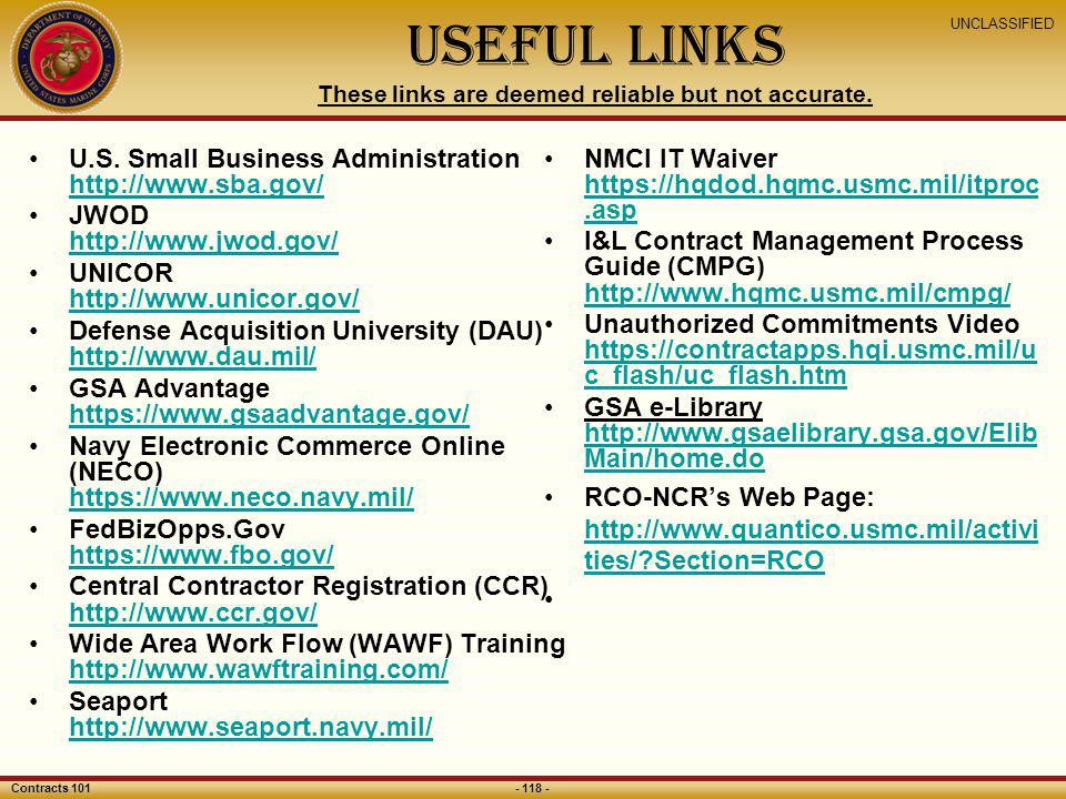 Useful Links These links are deemed reliable but not accurate.