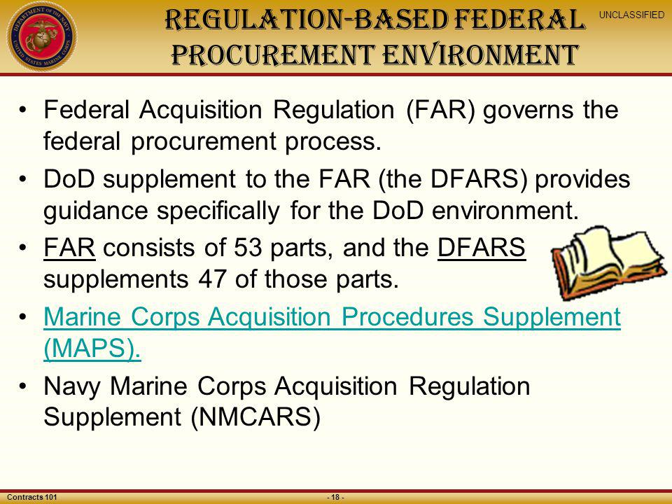 Regulation-Based Federal Procurement Environment