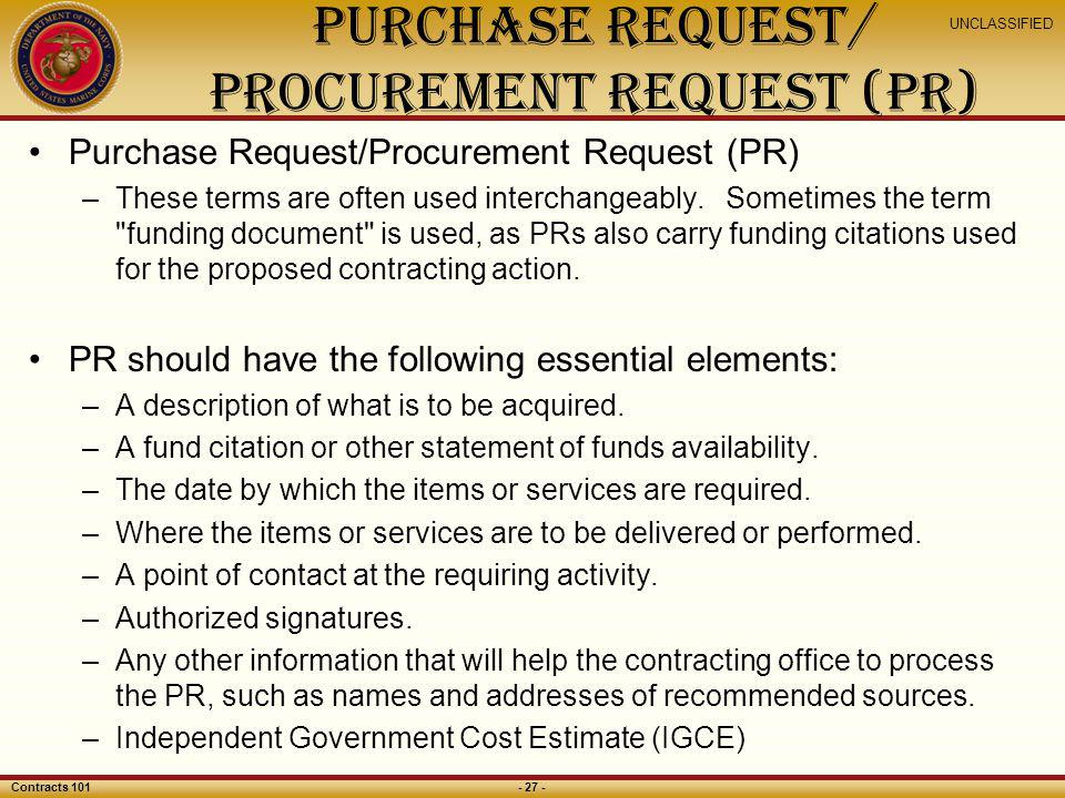 Purchase Request/ Procurement Request (PR)