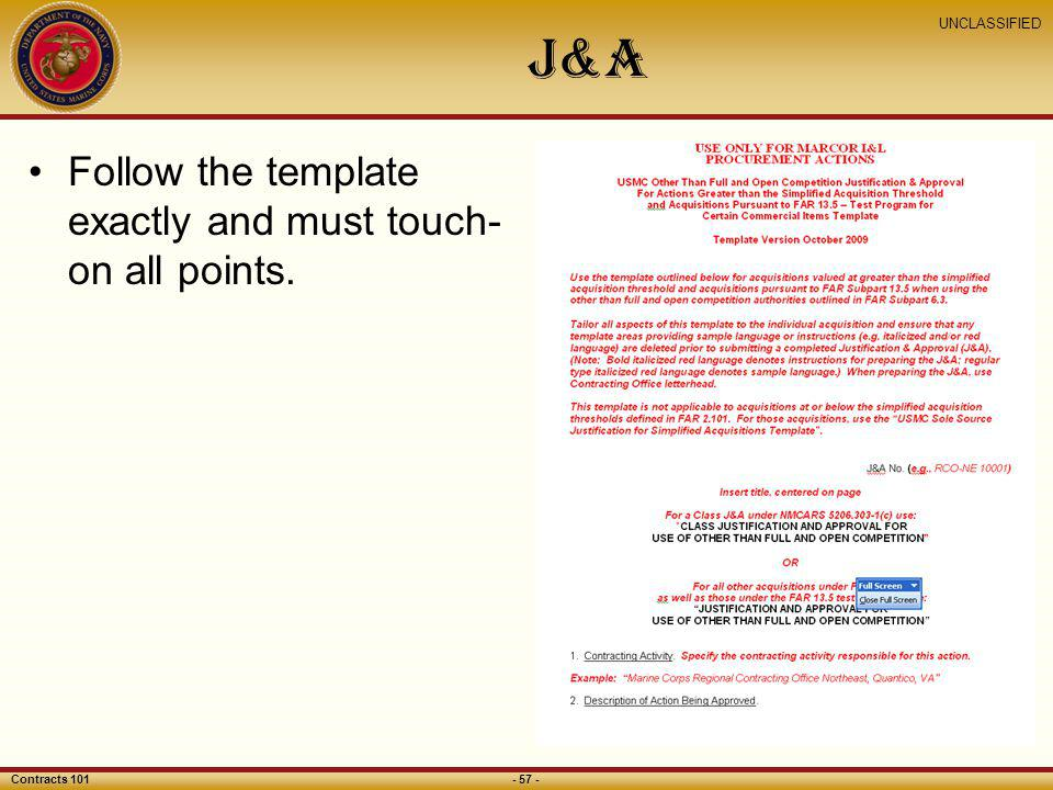 J&A Follow the template exactly and must touch-on all points.