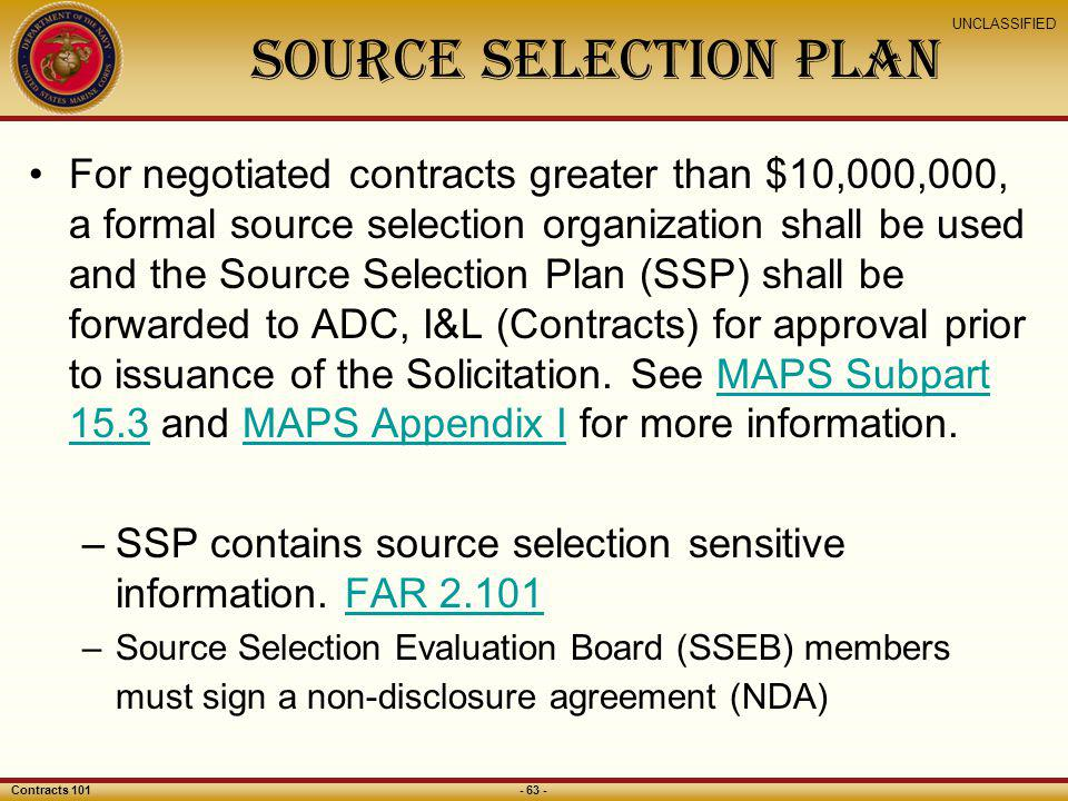 Source Selection Plan