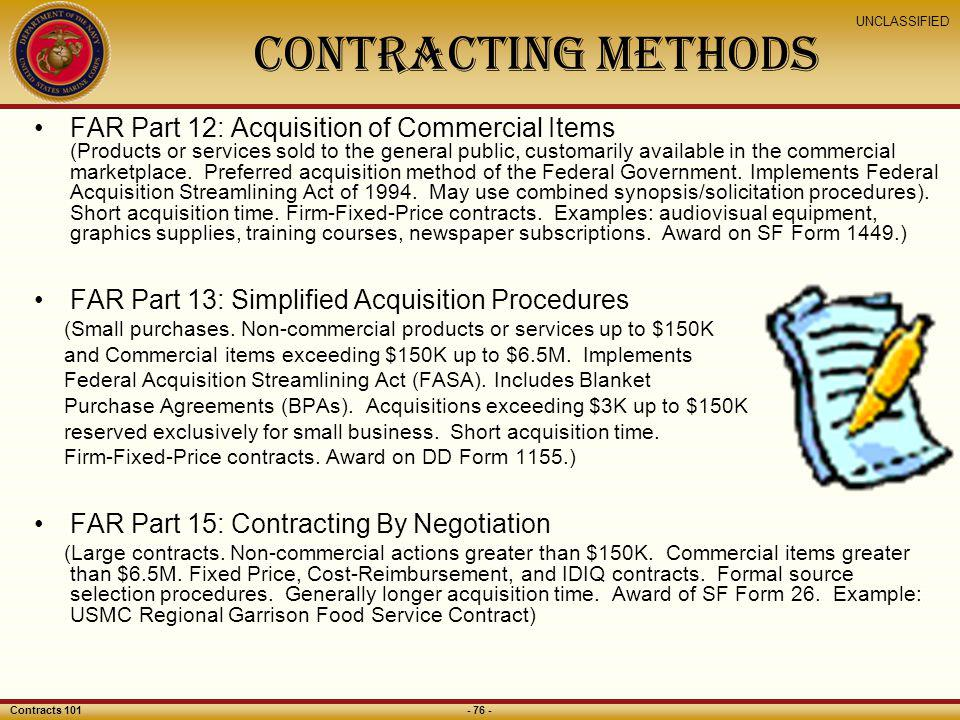 CONTRACTING Methods