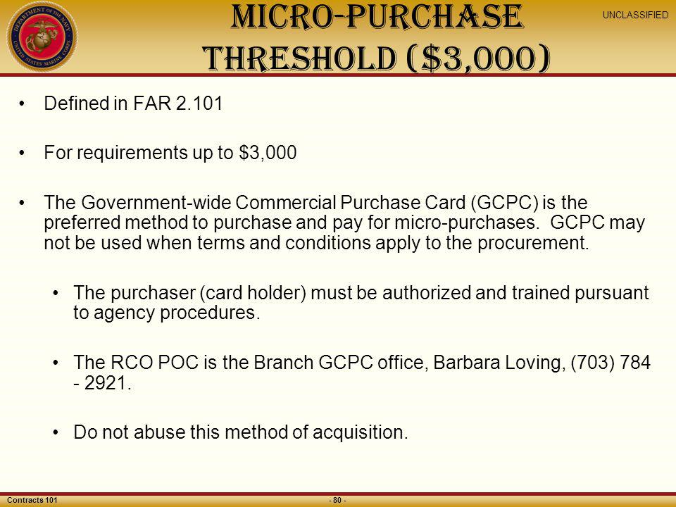 Micro-Purchase Threshold ($3,000)