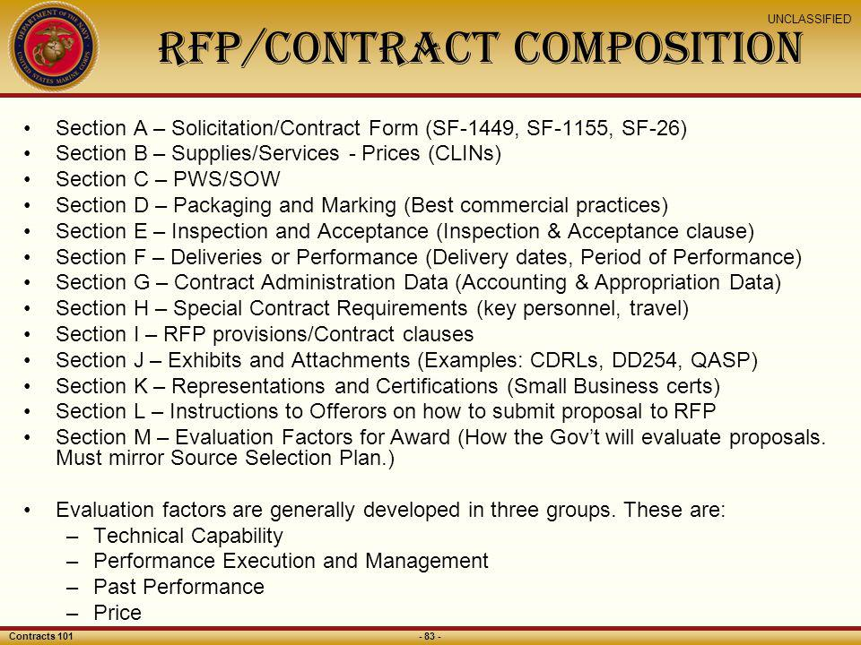 RFP/Contract Composition