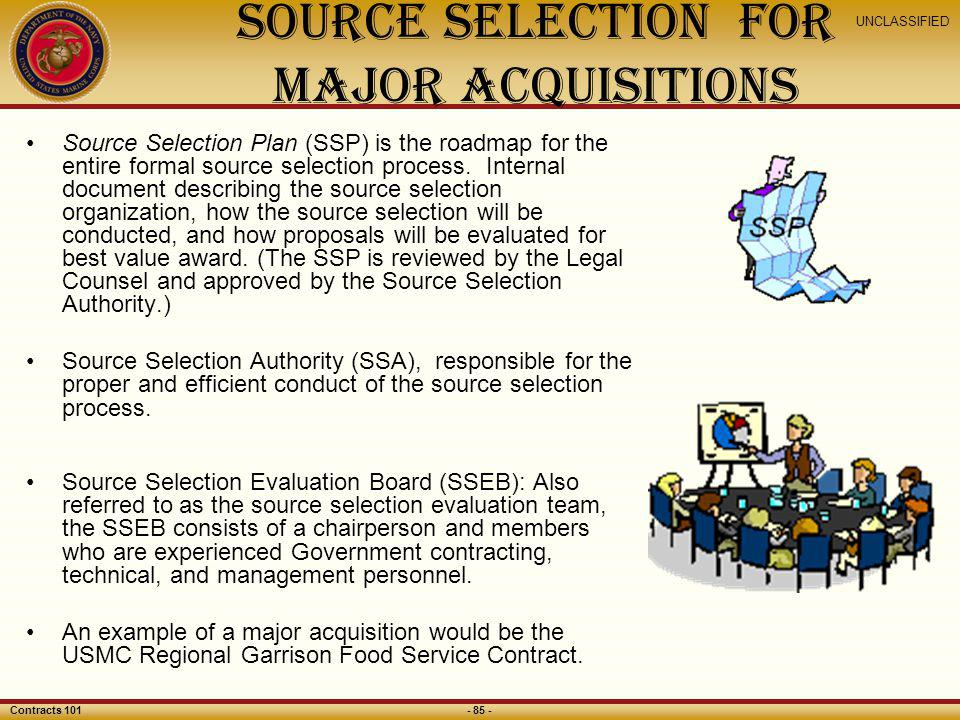 Source Selection for Major Acquisitions