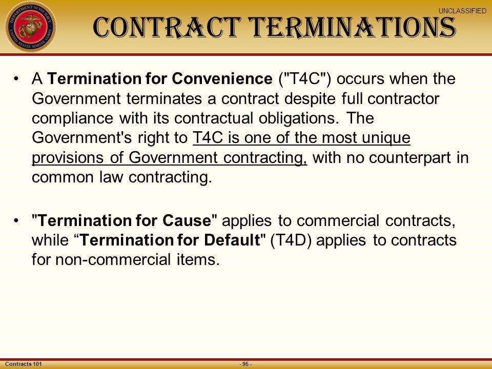 Contract Terminations