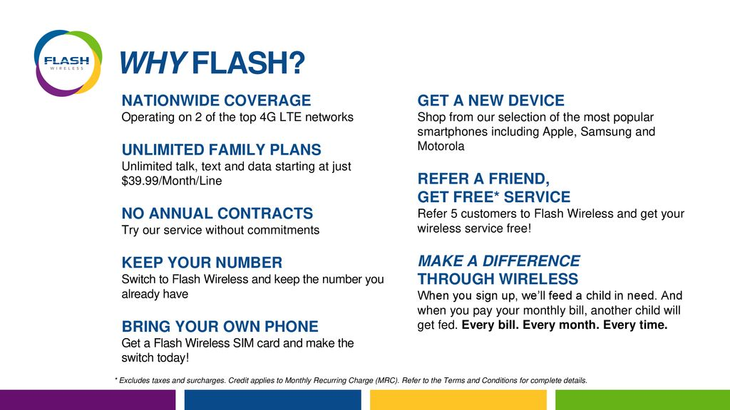 WHY FLASH? NATIONWIDE COVERAGE GET A NEW DEVICE UNLIMITED