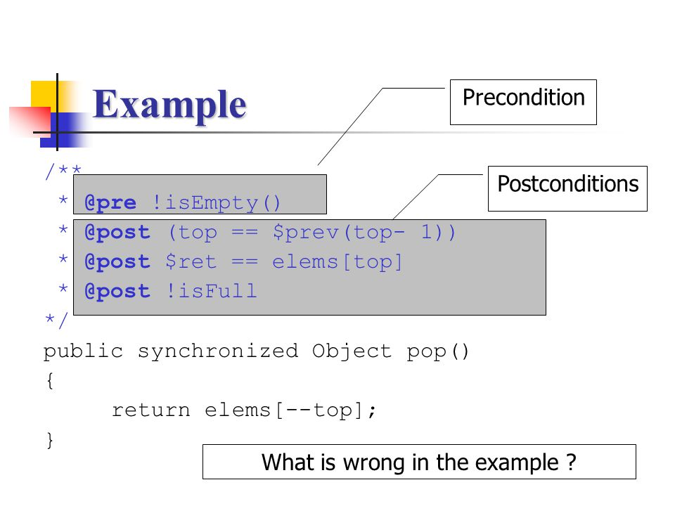 What is wrong in the example