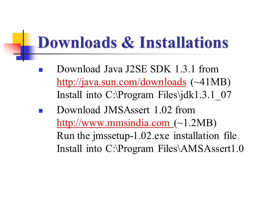 Downloads & Installations