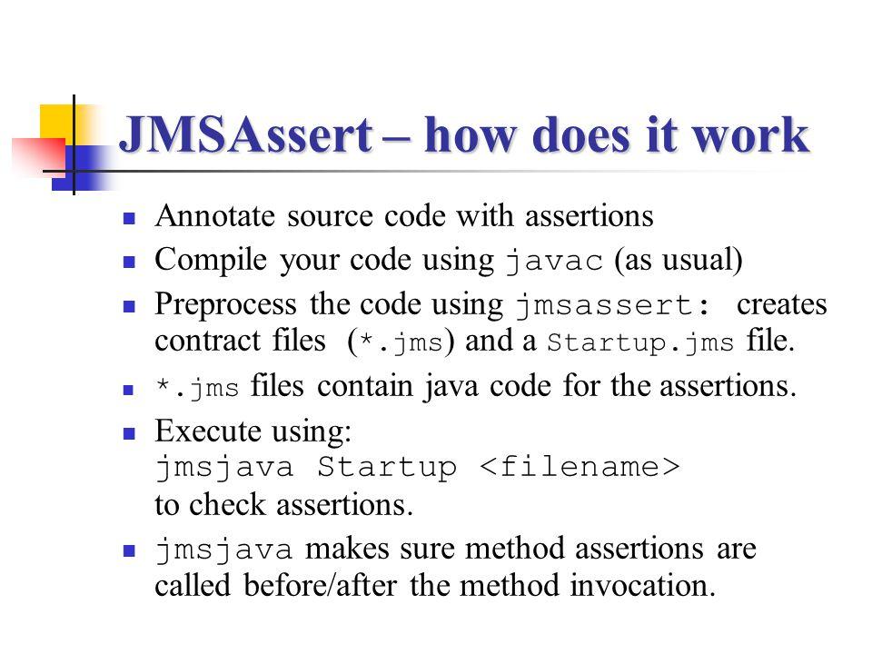JMSAssert – how does it work
