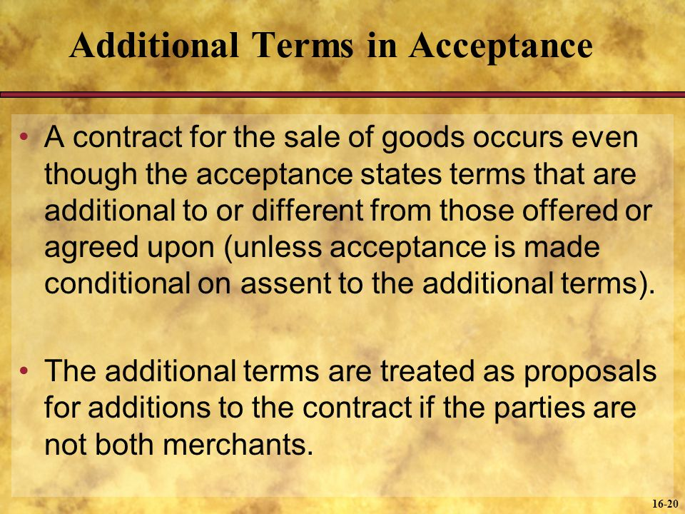 Additional Terms in Acceptance